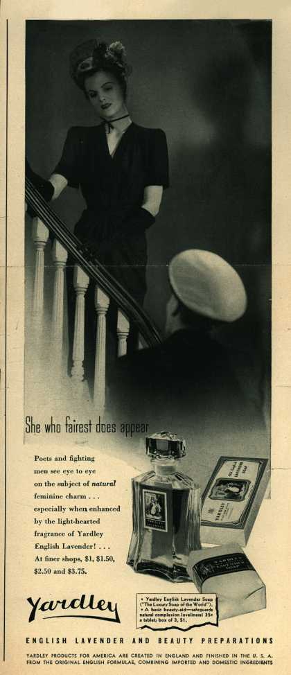 Yardley of London's Yardley's English Lavender – She who fairest does appear (1943)