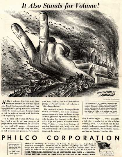 Philco Corporation's Various – It Also Stands for Volume (1943)