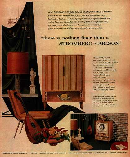 """Stromberg-Carlson Company's Television – """"there is nothing finer than a Stromberg-Carlson"""" (1953)"""