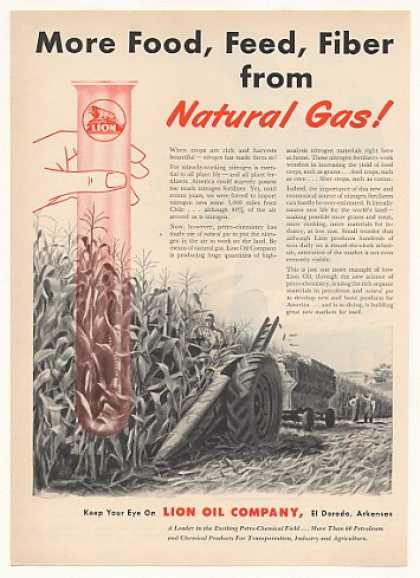 Lion Oil Co More Food Natural Gas Corn Field (1951)