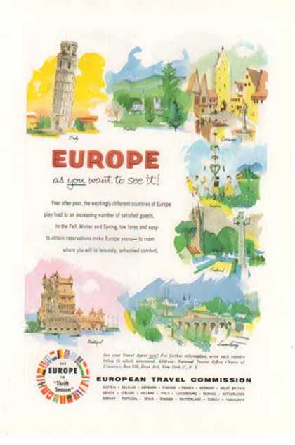 European Travel – EUROPE as you want to see it (1955)