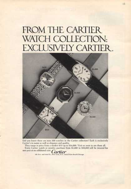 Cartier Watch Collection Photo (1971)