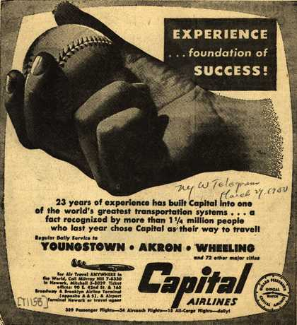 Capital Airlines – Experience... foundation of success (1950)