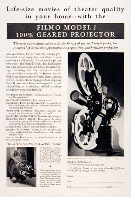 Bell & Howell Filmo Projector (1931)