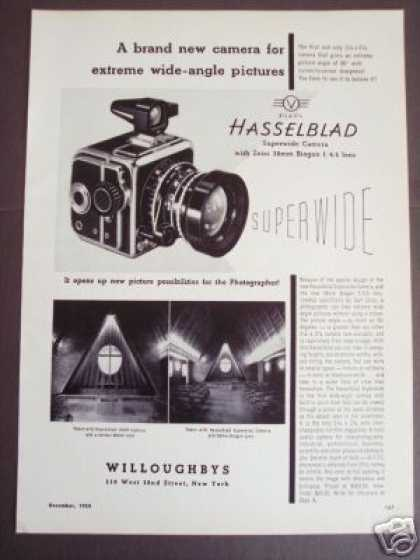 Hasselblad Superwide Camera W Zeiss 38mm Lens (1954)
