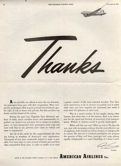 American Airlines – Thanks (1943)