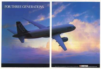 Airbus A320 Aircraft Photo Sundstrand 2-Page (1986)