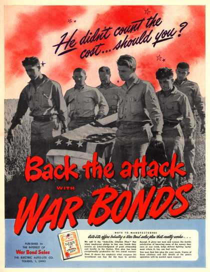Electric Auto-Lite Co.'s War Bonds – He didn't count the cost... should you? (1943)