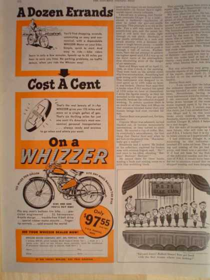 Whizzer Motorcycle Bike Scooter (1947)