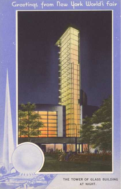Greetings from New York World's Fair, Tower of Glass
