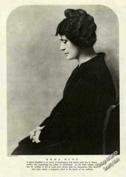 Emma Dunn Photo Collectible Theatre Feature (1921)