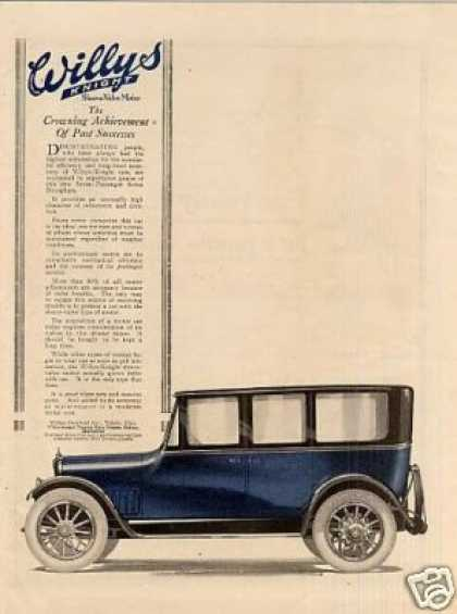 Willys-overland Knight Car Color (1918)