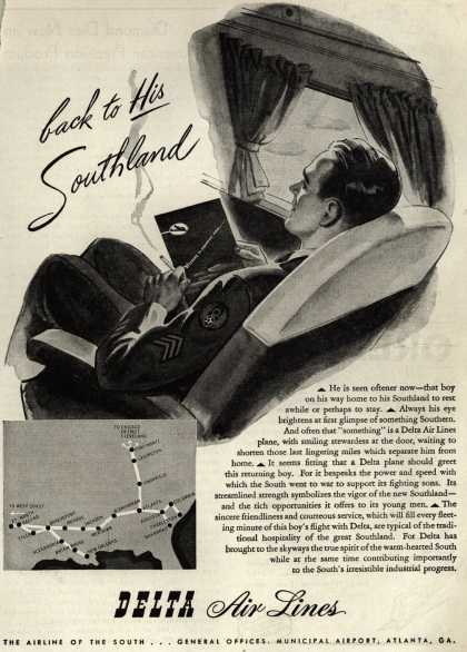 Delta Airlines – back to His Southland (1945)