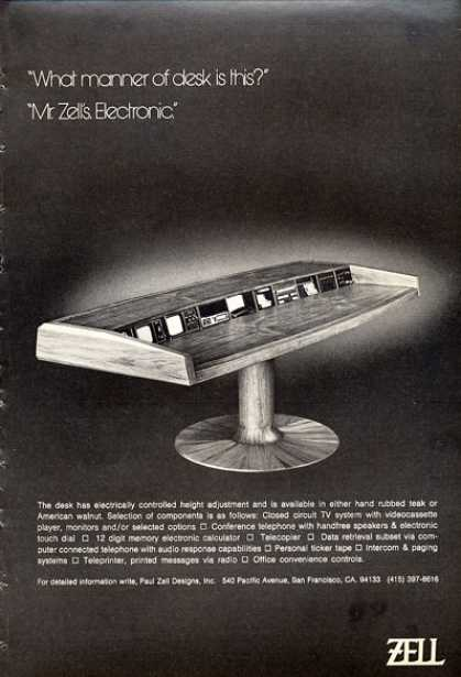 Zell Electronic Desk Table Cctv Video Player (1972)