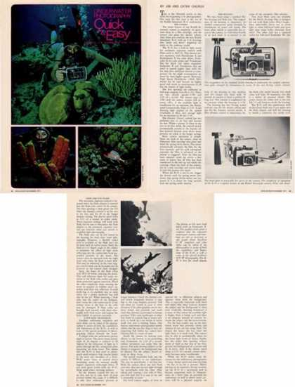 Underwater Photography Guide Uw Flash Camera Ad T (1971)