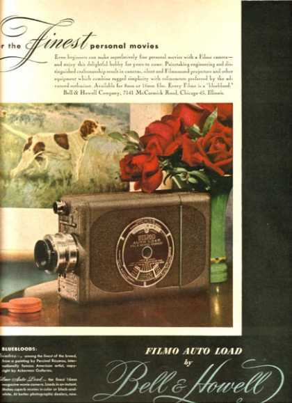 """Bell & Howell Filmo's """"For the FINEST personal movies"""" (1947)"""