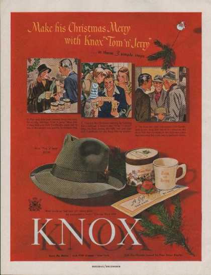 Knox Mens Hat for Christmas (1947)