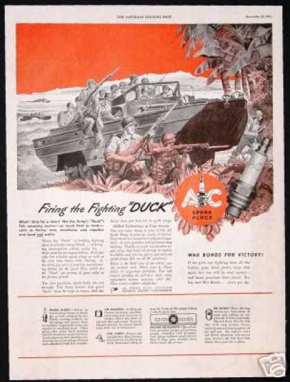 U.S Army WWII Duck Carrier Art AC Vintage (1943)