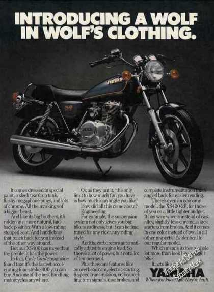 Yamaha Xs400 Motorcycle Wolf In Wolf's Clothing (1979)