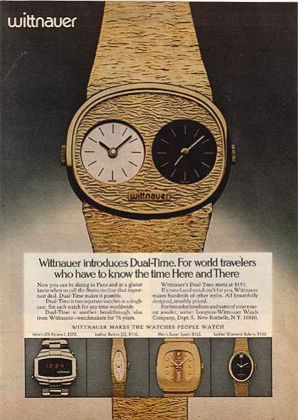 Wittnauer's Dual-Time Watches (1975)