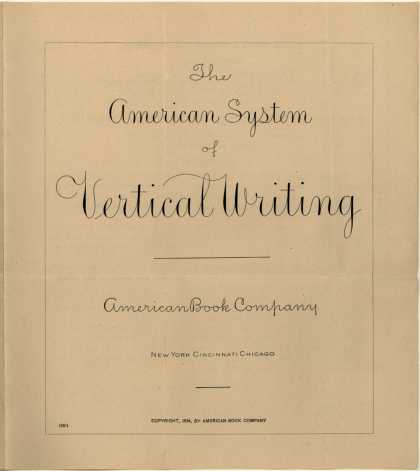 American Book Co.'s Penmanship – American System of Vertical Writing (1894)