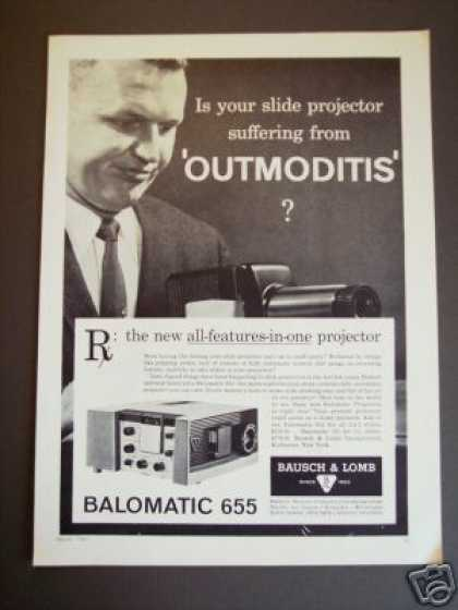 Balomatic 655 Bausch & Lomb Slide Projector (1961)