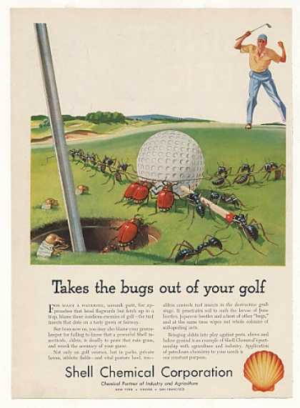 Shell Aldrin Insecticide Takes Bugs Out of Golf (1953)