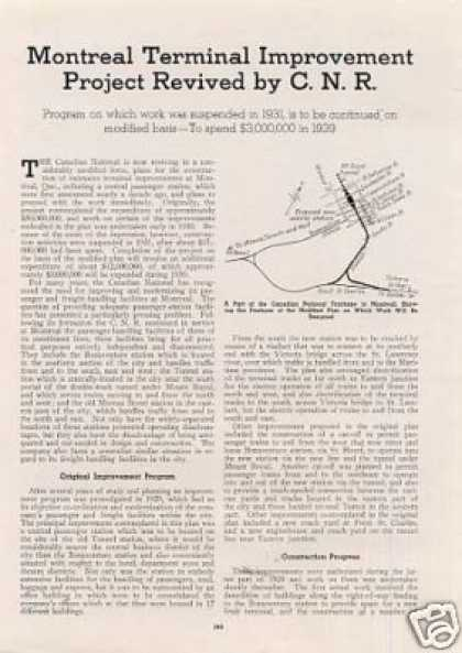 """""""Montreal Improvement Project Revived-cnr"""" Article (1939)"""