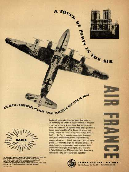 French National Airline's Air France – A TOUCH OF PARIS IN THE AIR (1946)