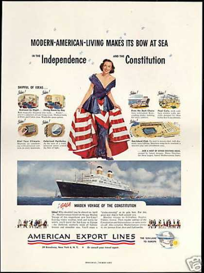 American Export Lines Constitution First Voyage (1951)