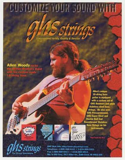 Allman Brothers Allen Woody GHS Strings Photo (1996)