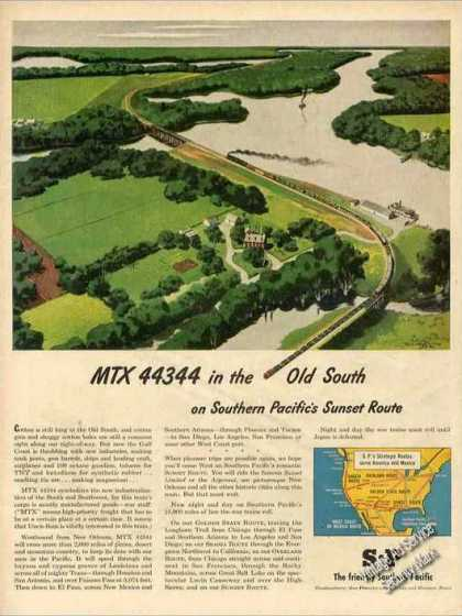 Southern Pacific Sunset Route Trains (1945)