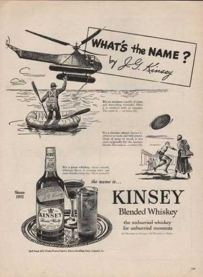 Whats the Name Kinsey Blended Whiskey (1946)