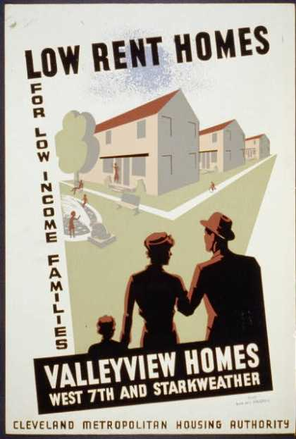 Low rent homes for low income families – Valleyview homes, West 7th and Starkweather. (1936)