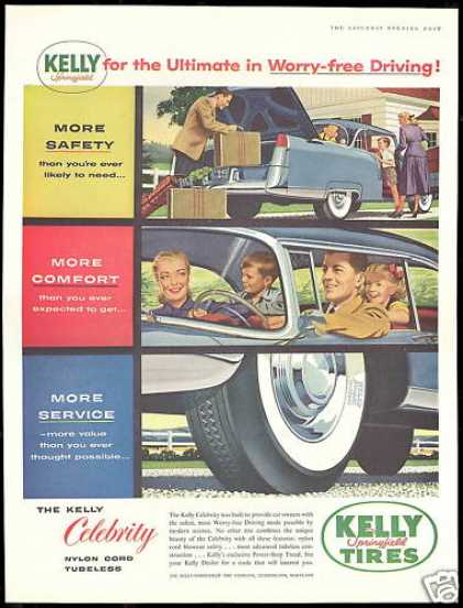 Kelly Springfield Tires Worry Free Vintage (1956)