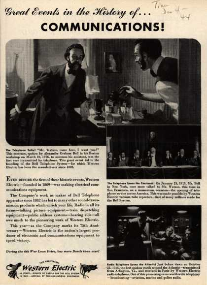 Western Electric's Radio – Great Events in the History of... Communications (1944)