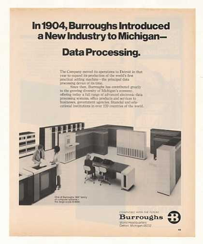 Burroughs B 6800 Computer System Photo (1977)