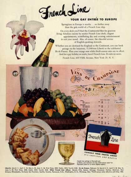 French Line's Europe – French Line Your Gay Entree to Europe (1952)