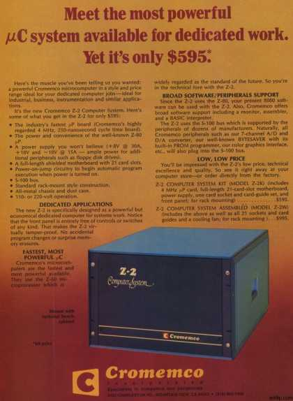 Cromemco Incorporated's Z-2 Computer System (1977)