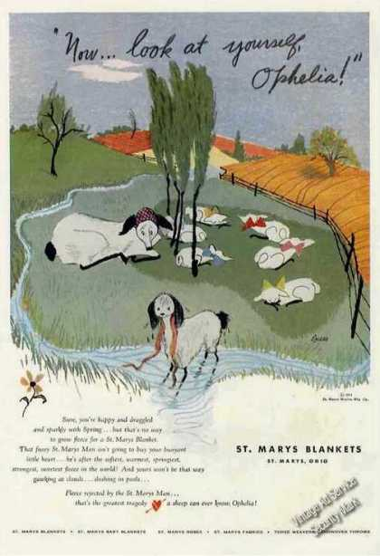 Look at Yourself Ophelia! Lambs Art St. Marys (1951)