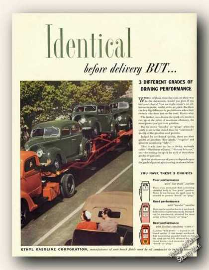 Ethyl Gasoline Corp New Cars On Carrier (1938)