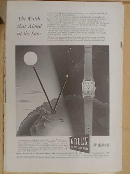 Gruen watch Co. The watch that aimed at the stars (1941)
