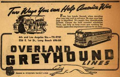 Interstate Transit Lines (Overland Greyhound)'s War Support – The Ways You can Help America Win (1945)