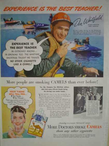 Camel Cigarettes Don Whitfield Speedboats (1947)