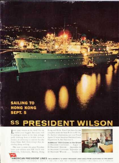 American President Lines Cruise Ship Ss Wilson (1961)