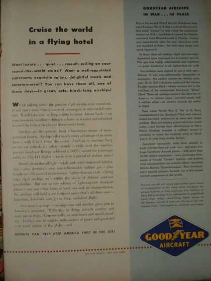 Goodyear Aircraft Cruise the world in a flying hotel. Zeppelin (1945)