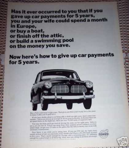 Volvo Give Up Car Payments for 5 Years Original (1965)
