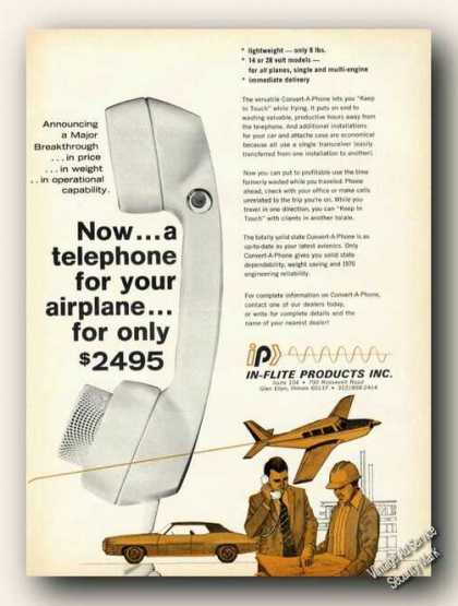 Telephone for Your Airplane $2495 In-flite (1969)
