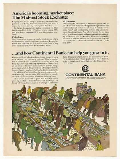 MSE Midwest Stock Exchange Continental Bank (1972)