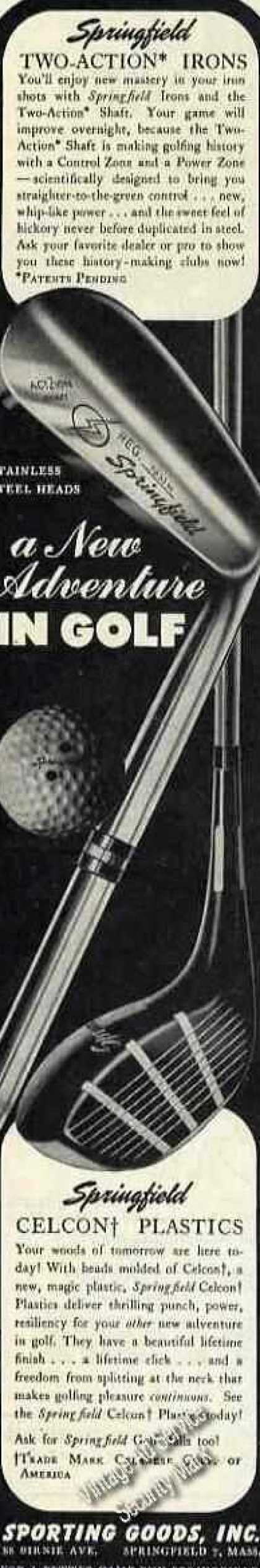 """Springfield Clubs """"A New Adventure In Golf"""" (1947)"""